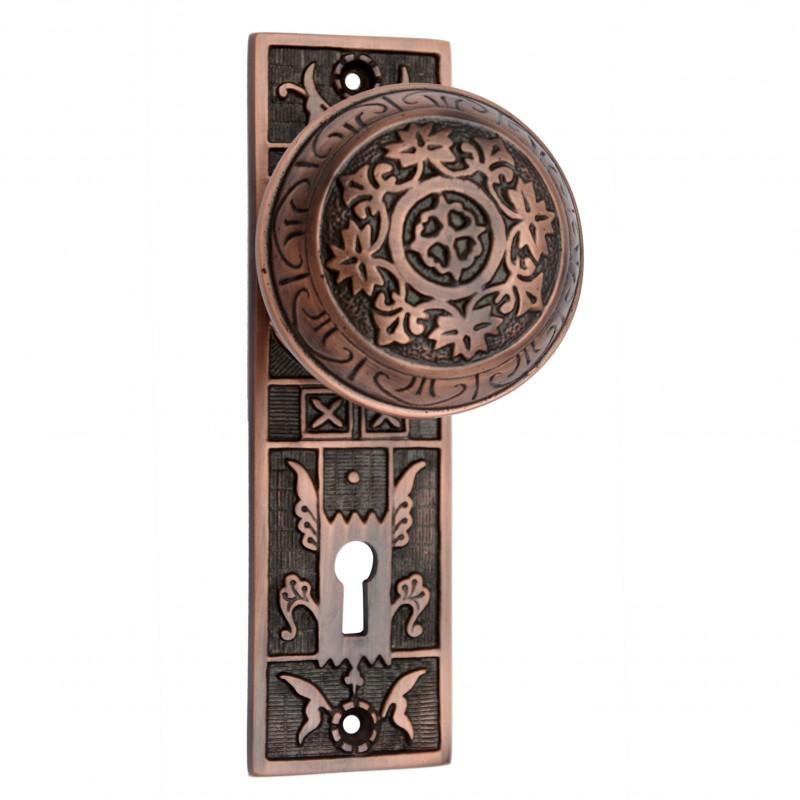brass door knob plate photo - 16