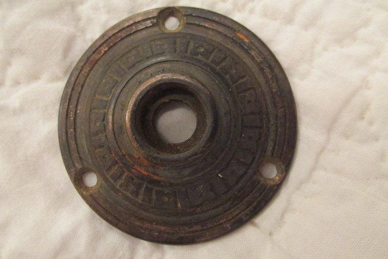brass door knob plate photo - 8