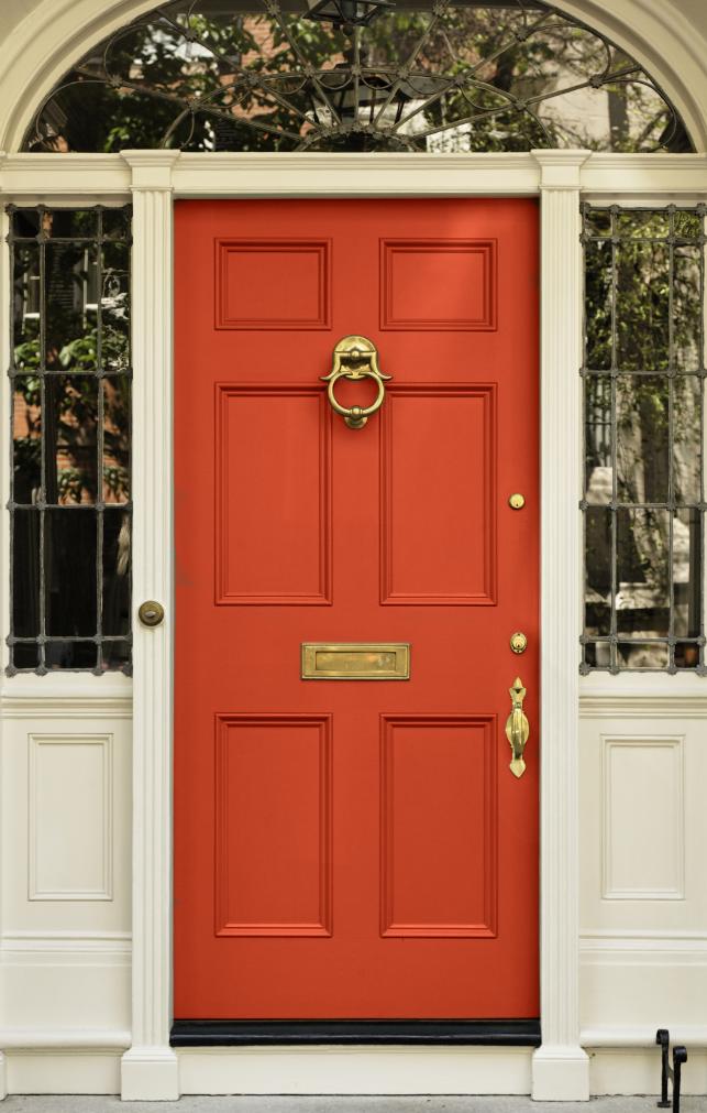 brass front door knob photo - 6