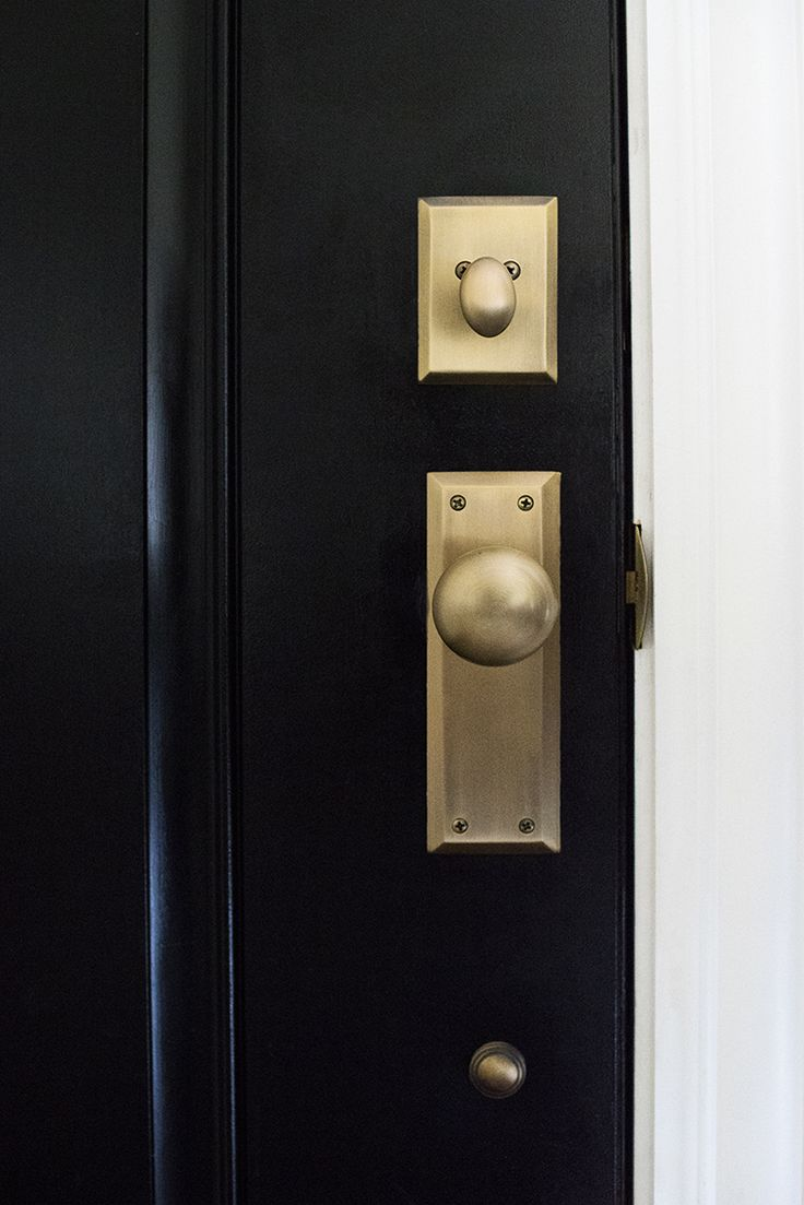 brass front door knob photo - 7
