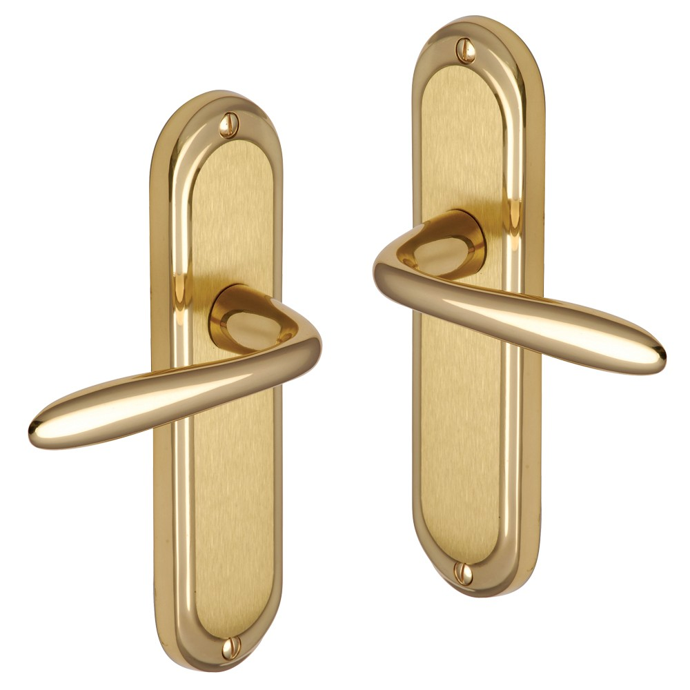 brushed brass door knobs photo - 18