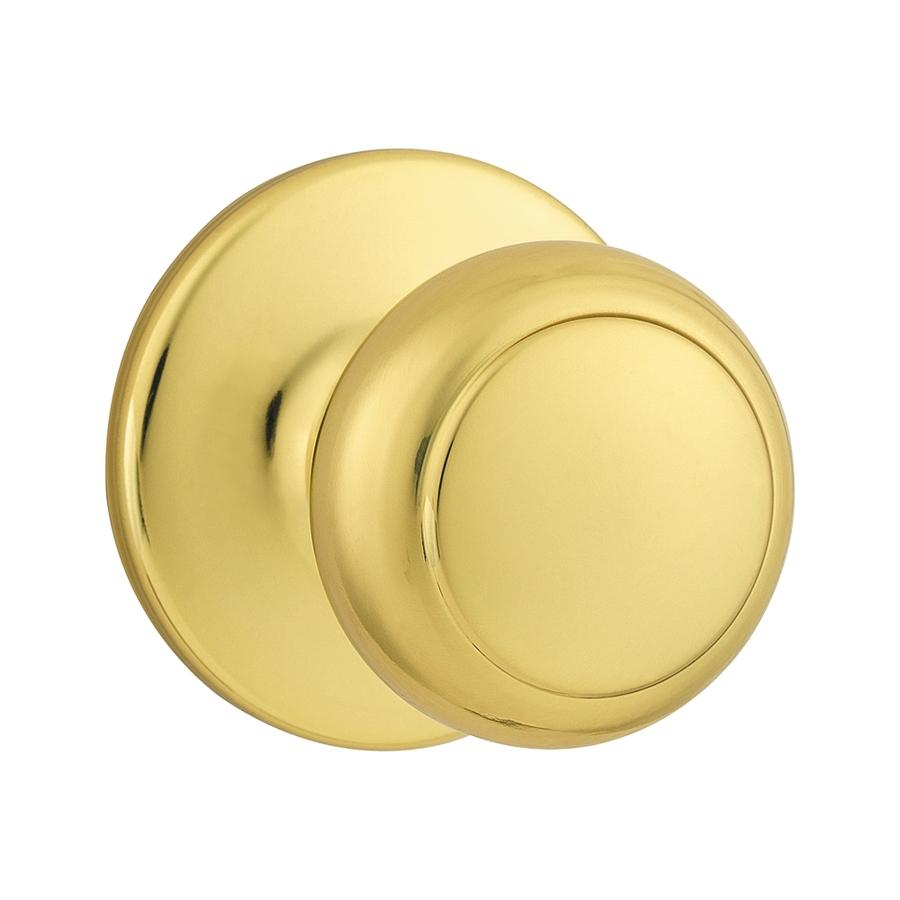 brushed brass door knobs photo - 3