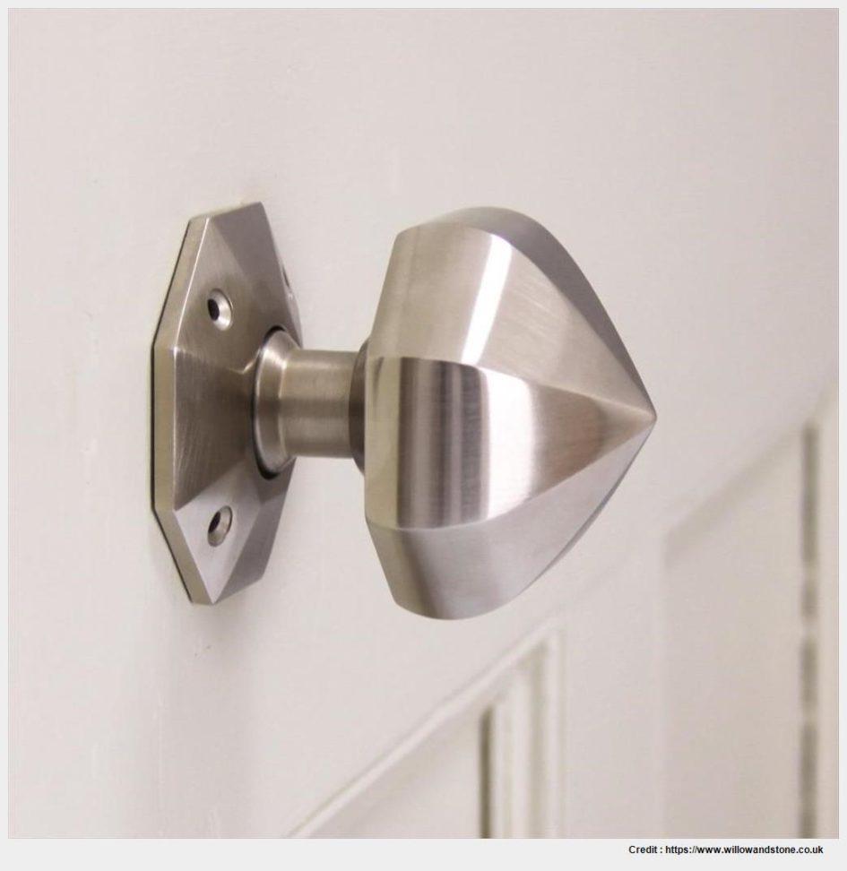 brushed nickel interior door knobs photo - 12
