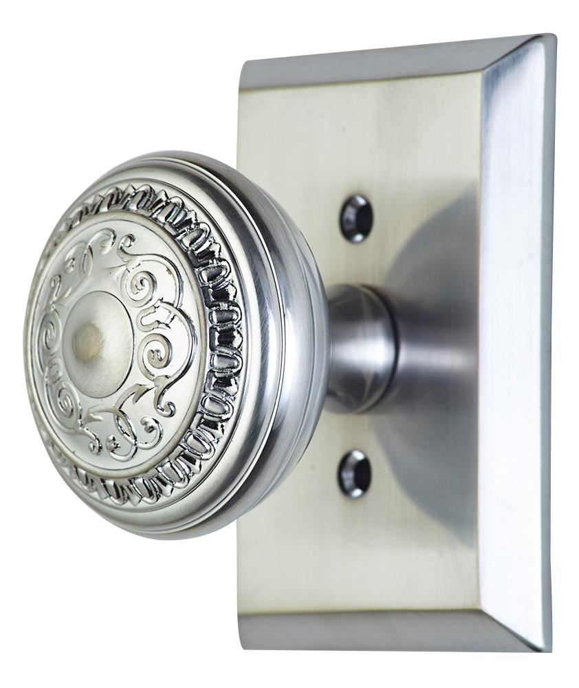 brushed nickel interior door knobs photo - 8