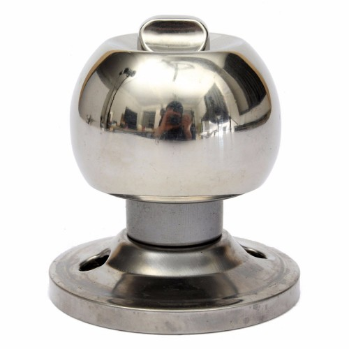 brushed steel door knobs photo - 10