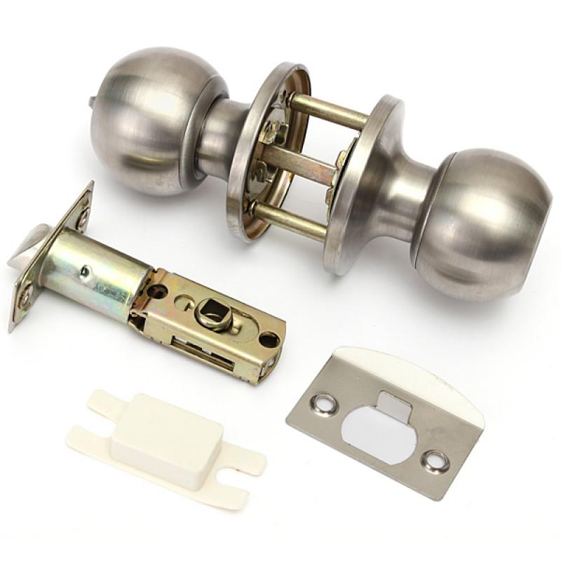 brushed steel door knobs photo - 12