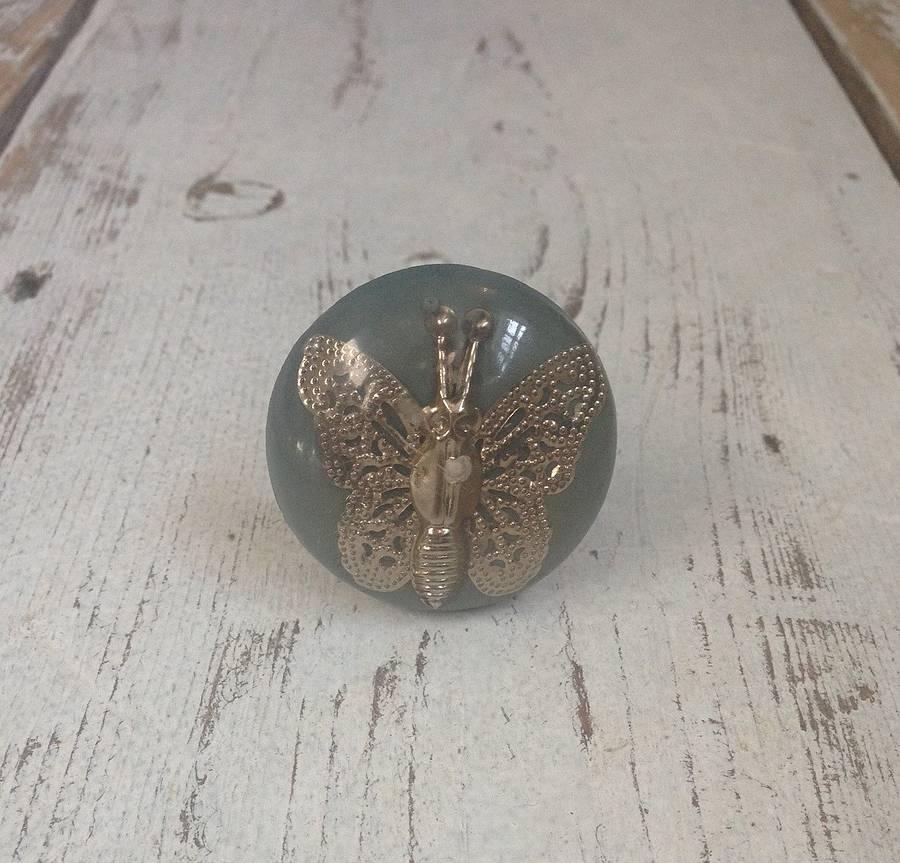 butterfly door knob photo - 14
