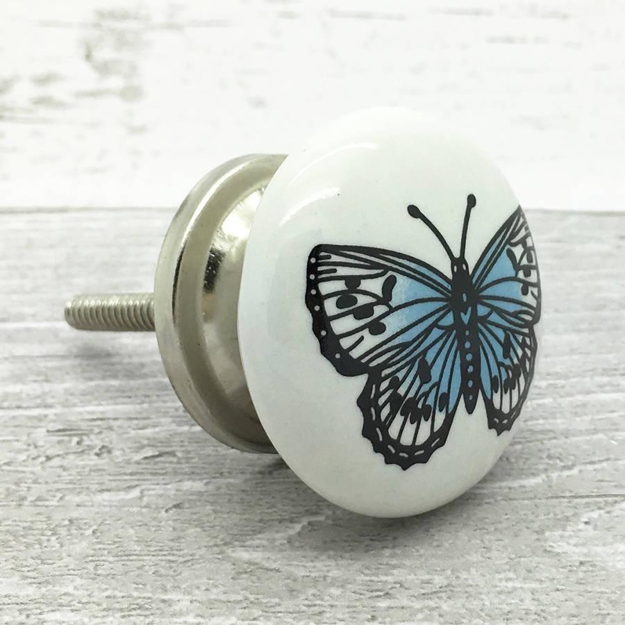 butterfly door knob photo - 4