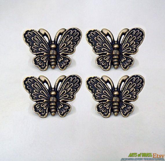 butterfly door knobs photo - 5