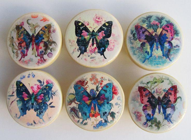butterfly door knobs photo - 9