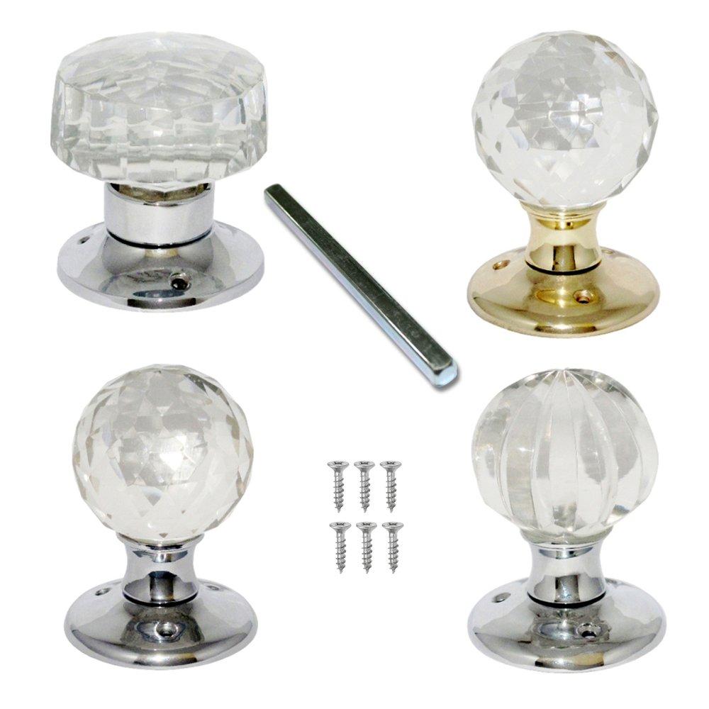 buy glass door knobs photo - 2