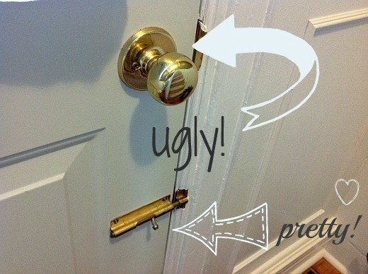 can you paint brass door knobs photo - 16