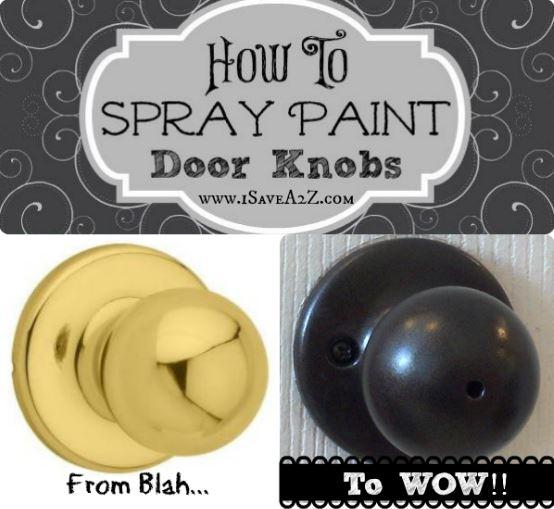 can you paint brass door knobs photo - 3