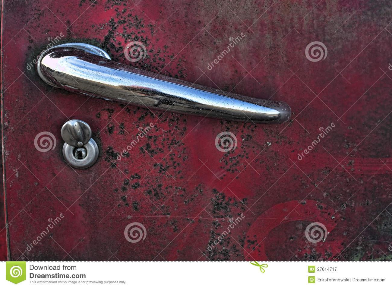 car door knob photo - 12
