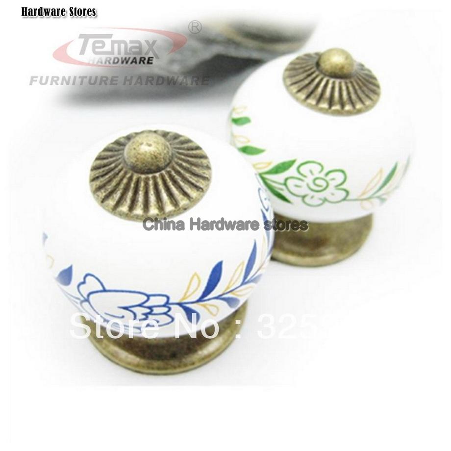 ceramic cupboard door knobs photo - 5