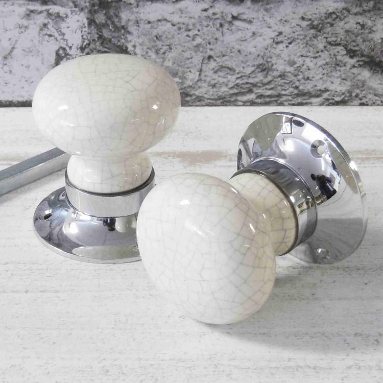 ceramic mortice door knobs photo - 1