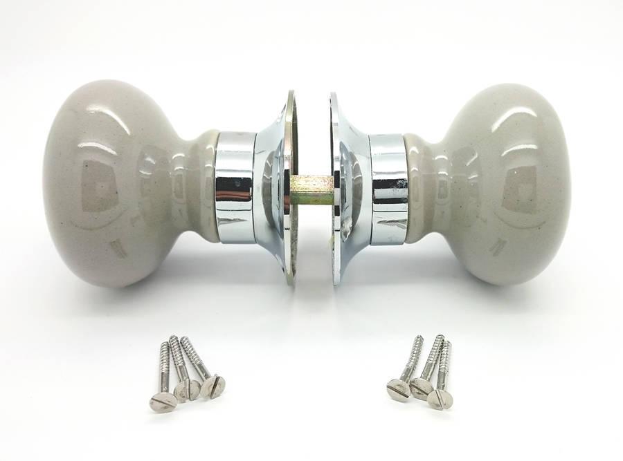 ceramic mortice door knobs photo - 2