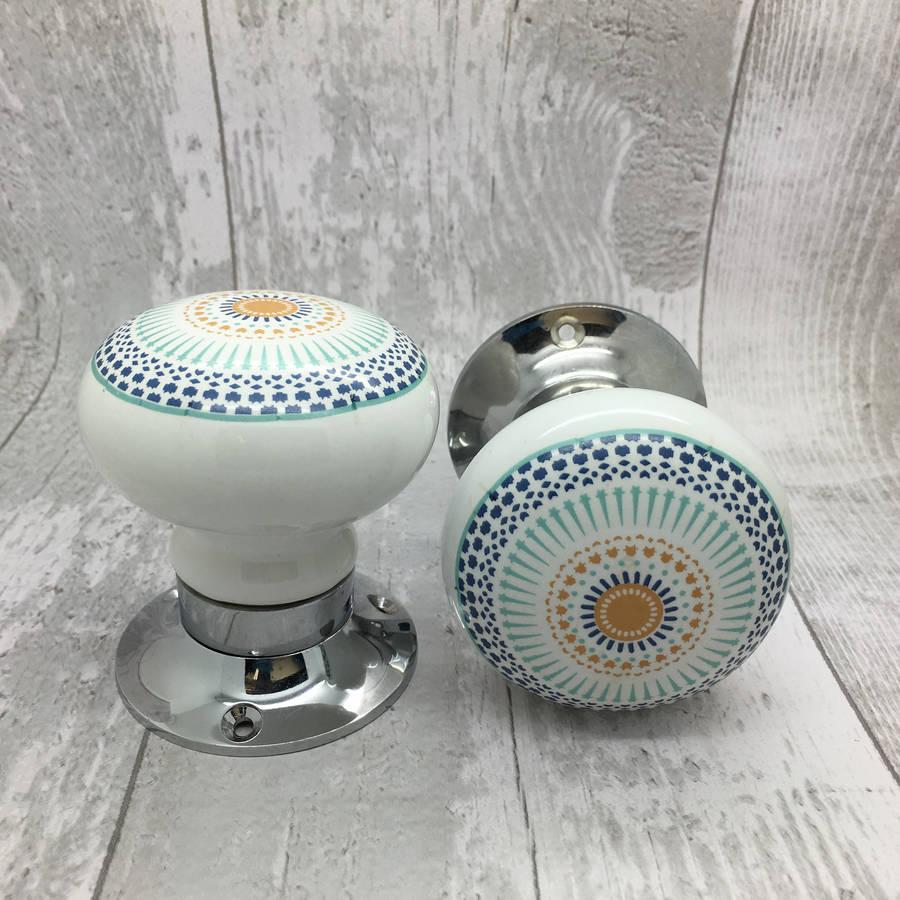 ceramic mortice door knobs photo - 3
