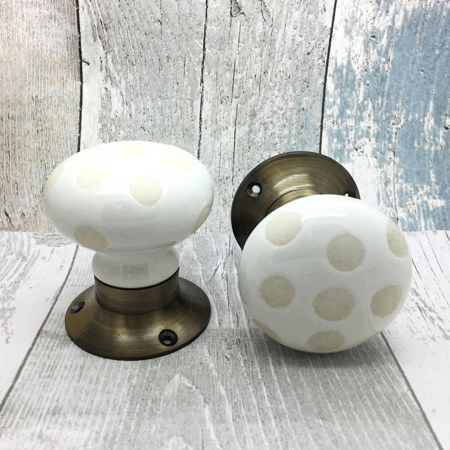 ceramic mortice door knobs photo - 9