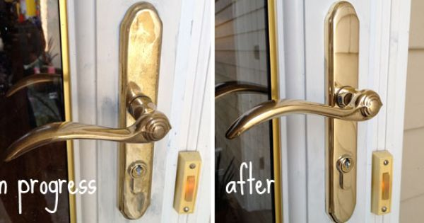 clean brass door knob photo - 18