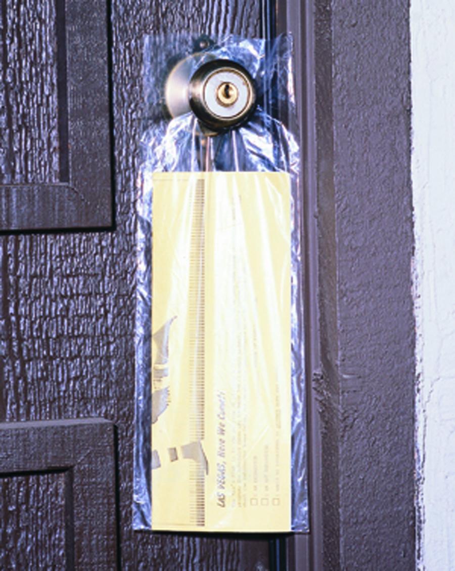 clear door knob bags photo - 14