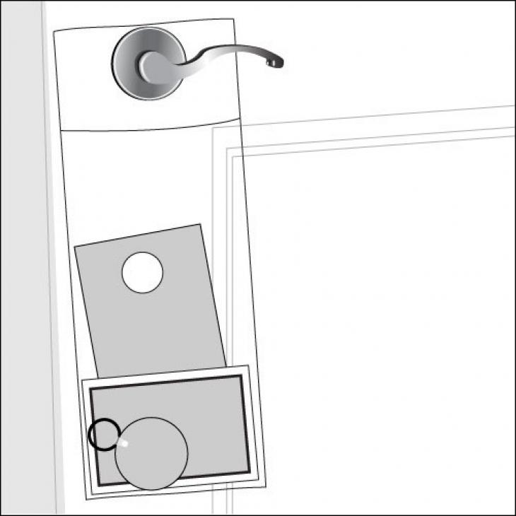 clear plastic door knob bags photo - 6