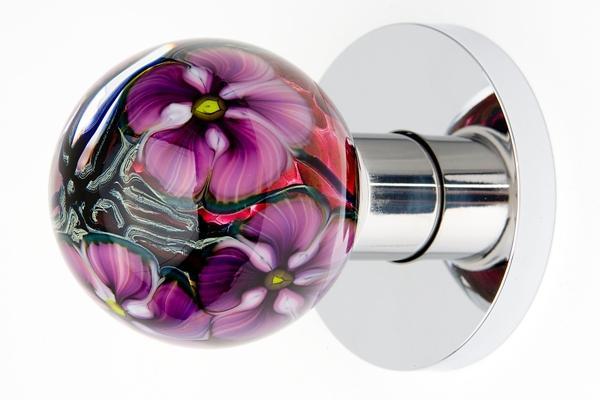 colored glass door knobs photo - 3