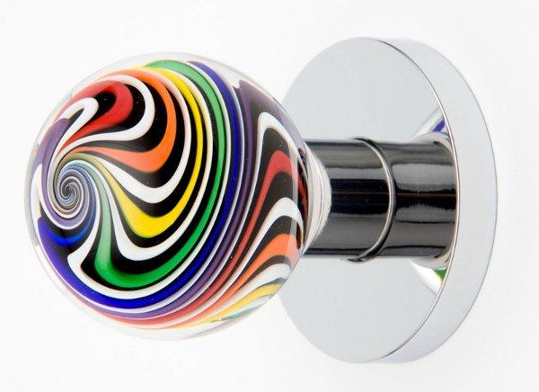 colored glass door knobs photo - 8