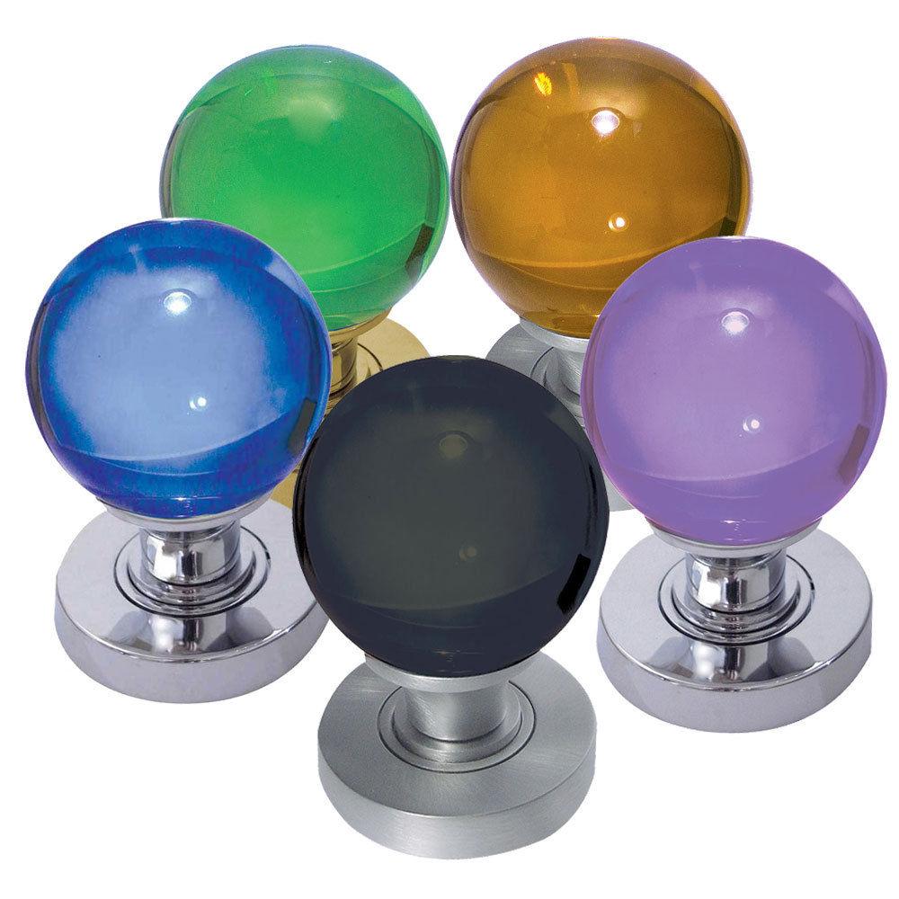 coloured glass door knobs photo - 19