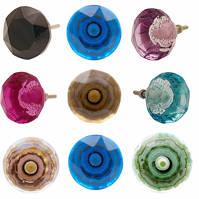coloured glass door knobs photo - 2