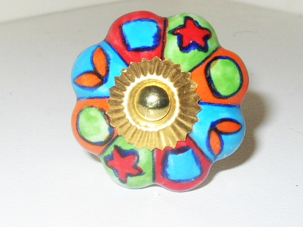 colourful door knobs photo - 1
