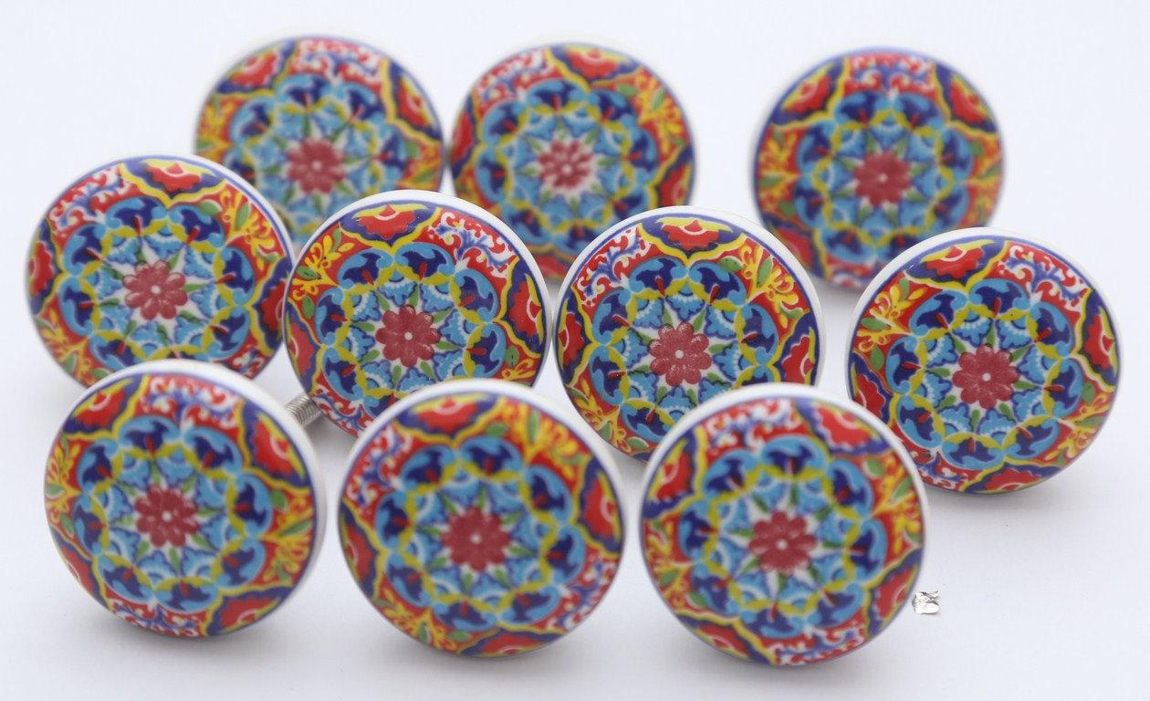 colourful door knobs photo - 2
