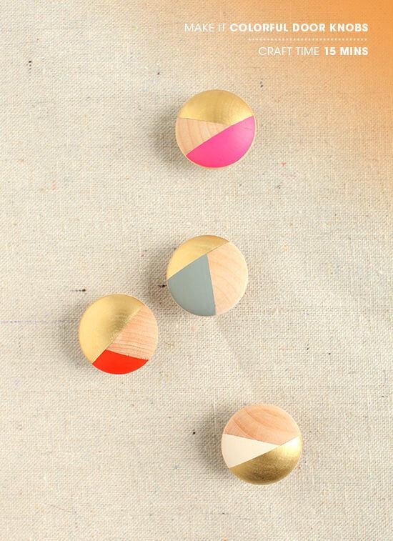 colourful door knobs photo - 3