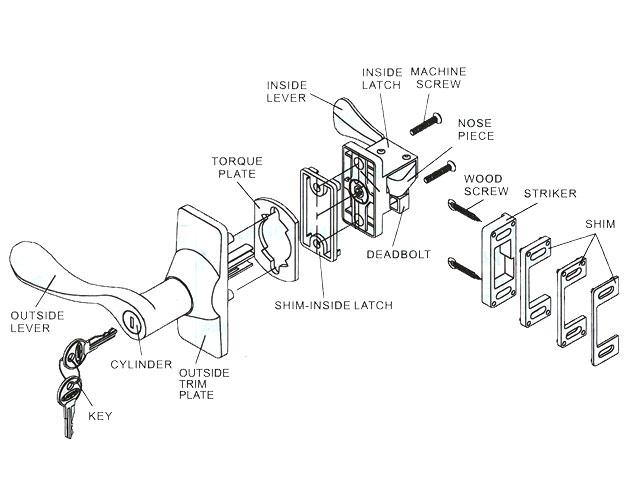 components of a door knob photo - 14