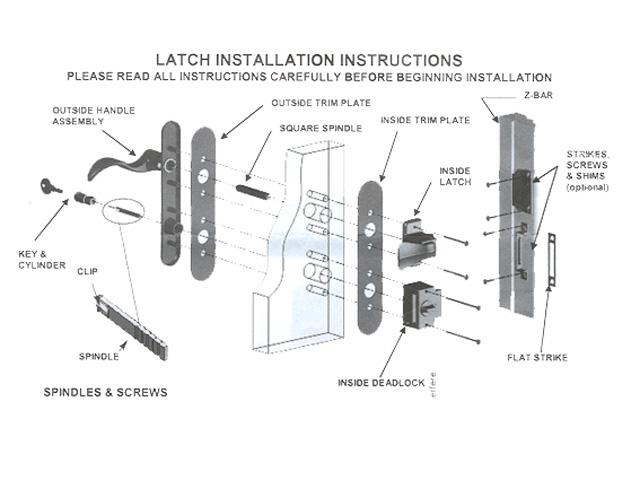 components of a door knob photo - 19