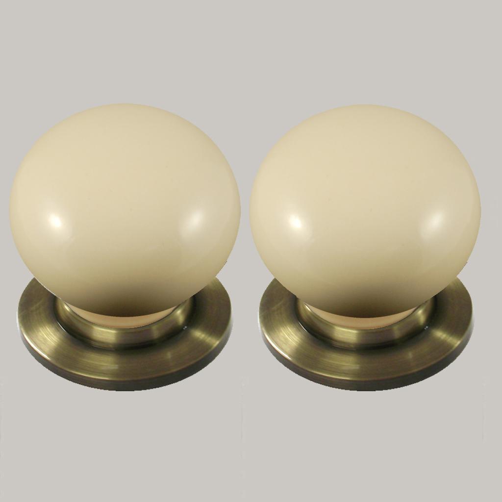 cream ceramic door knobs photo - 10