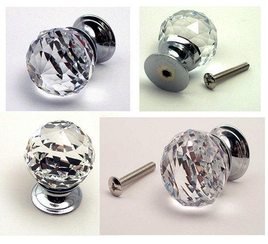 crystal cabinet door knobs photo - 19