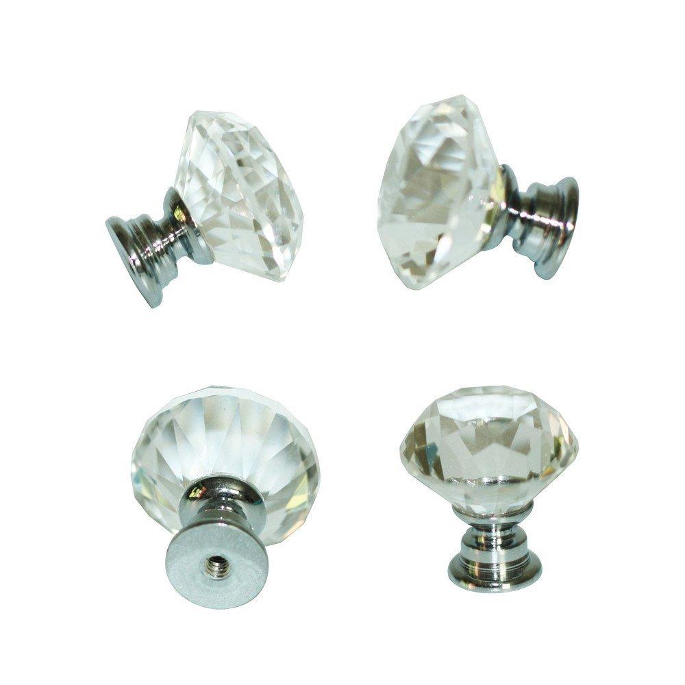crystal cupboard door knobs photo - 13