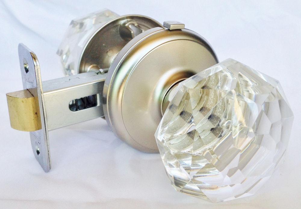 crystal door knob set photo - 1