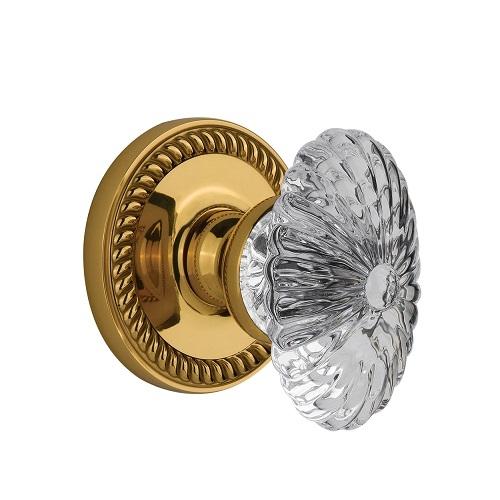 crystal door knob set photo - 2