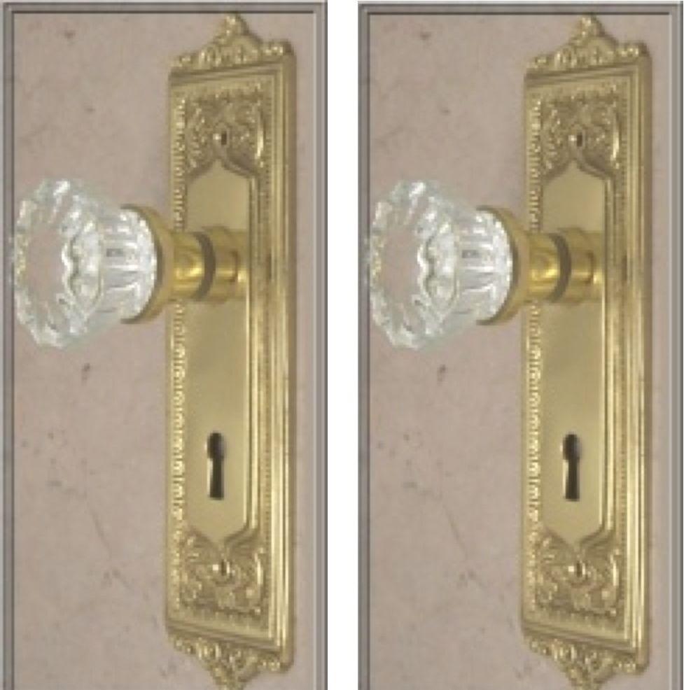 crystal door knob sets photo - 20