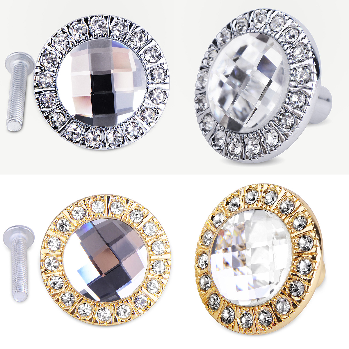 crystal door knobs cheap photo - 9