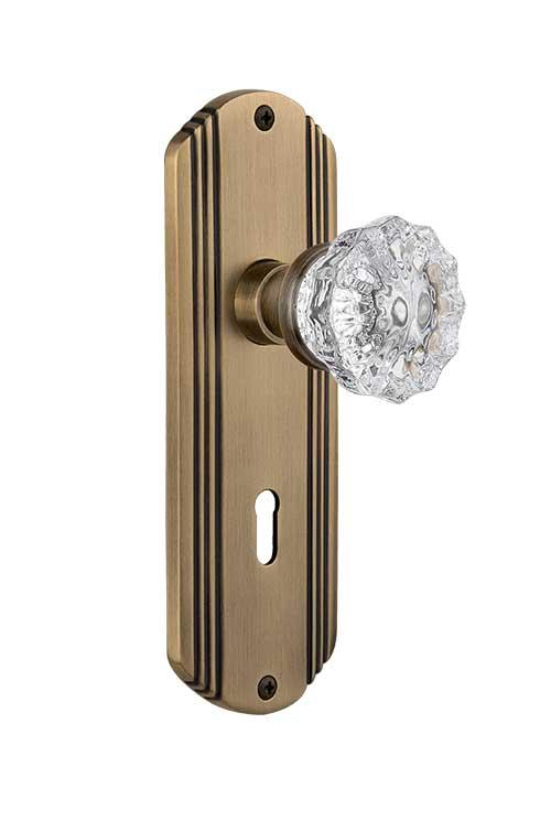 crystal door knobs with lock photo - 8
