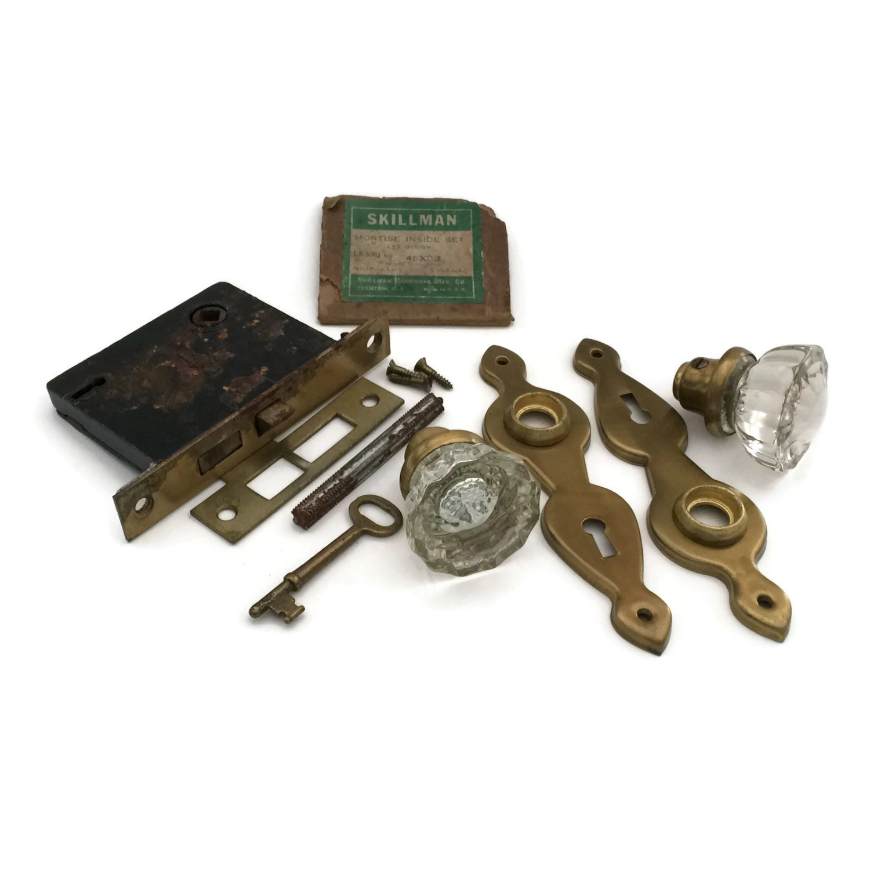 crystal door knobs with locks photo - 11