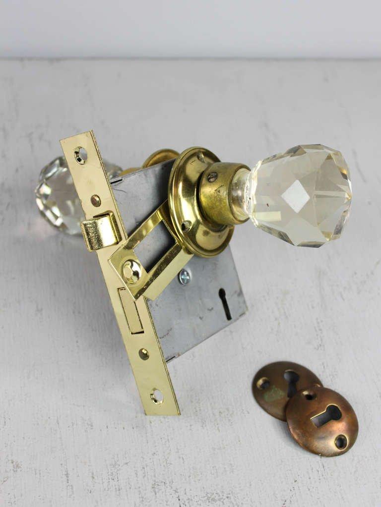 crystal door knobs with locks photo - 19