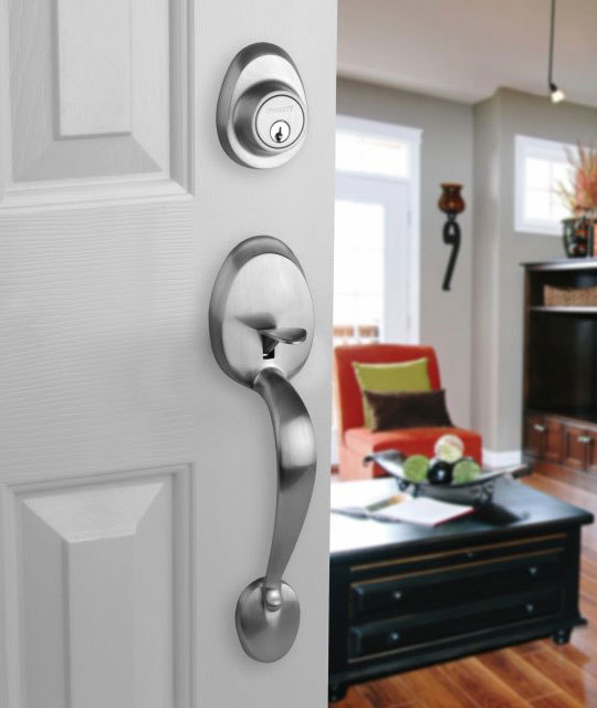 deadbolt door knob all in one photo - 1