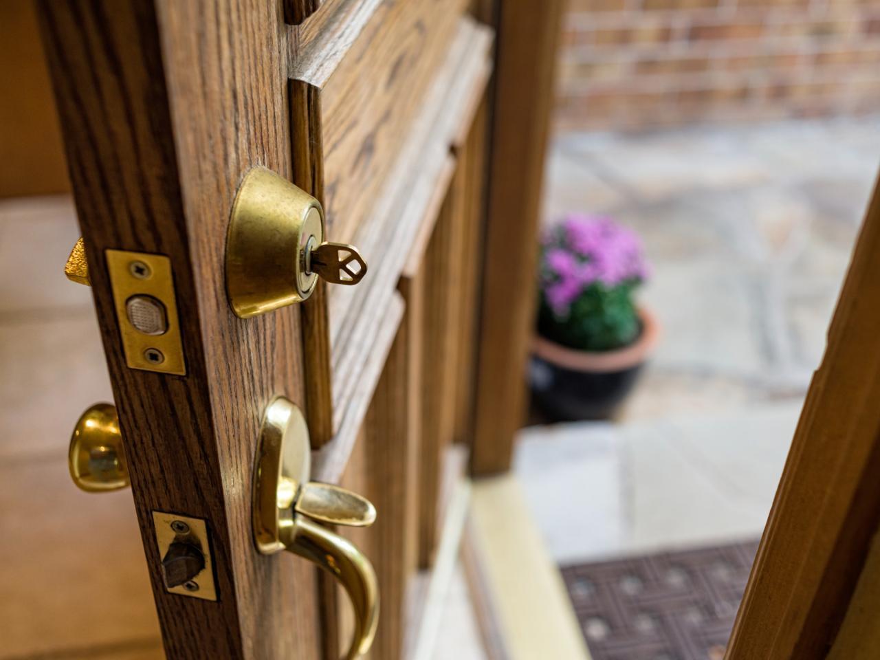 deadbolt door knob all in one photo - 20