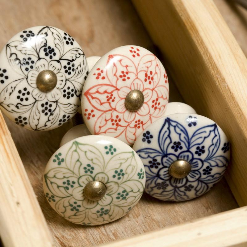 decorative ceramic door knobs photo - 2