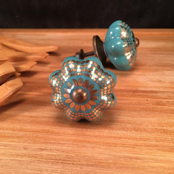 decorative ceramic door knobs photo - 7