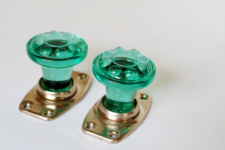decorative glass door knobs photo - 2